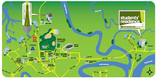 Technology College Sarawak - Kuching map